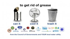To get rid of grease, can it, cool it, throw it away.