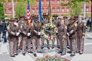 Sheriff and Deputies at a wreath laying ceremony at the law enforcement memorial in Washington, DC