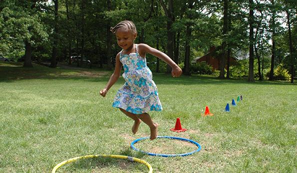 girl having fun in a park