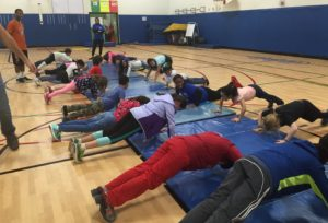 kids doing push ups