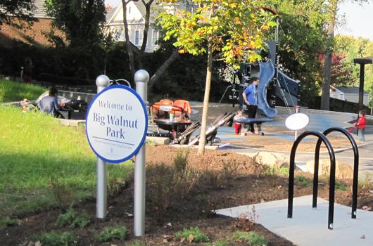 big walnut park arlington county sign