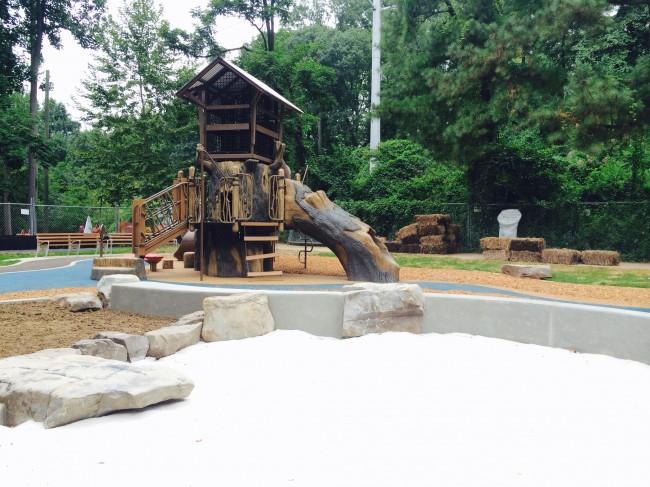 Glencarlyn Sandbox and Tree