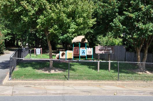 slater park arlington county sign