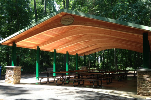 Lacey woods picnic shelter