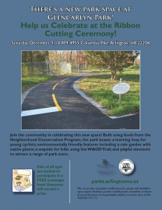 Glencarlyn Park Ribbon Cutting Flyer