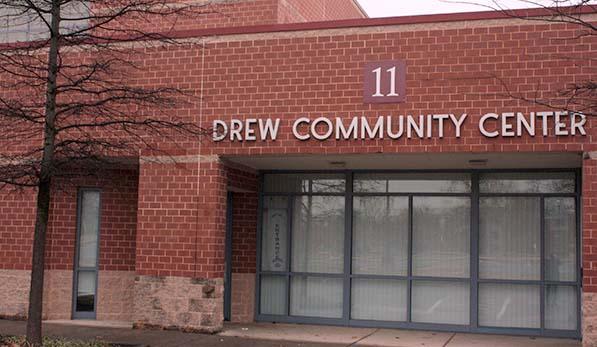 Drew Community Center, entrance sign