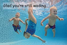 Glad you're still wading...