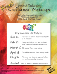 Second Saturday Crafternoon Workshops