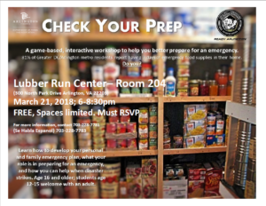 check your prep flyer with image of food pantry