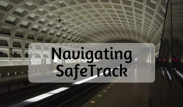 Navigating around SafeTrack. Image showing Clarendon metrorail