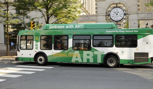 ART Bus driving down the street