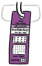 Illustration of a Short-Term Visitor Pass.