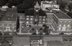 Bird's-eye view of the original Arlington Courthouse