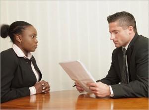 teen interviewing for job