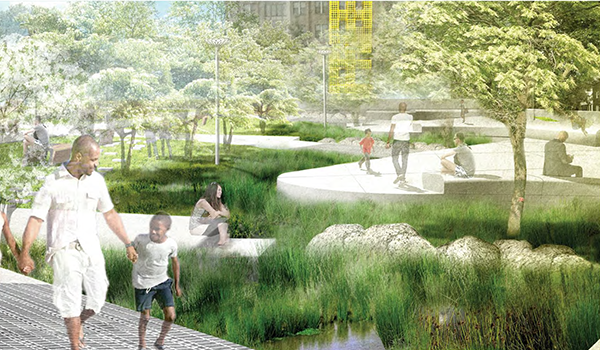 final design rendering for nauck town square