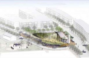 Rendering of Nauck Town Square