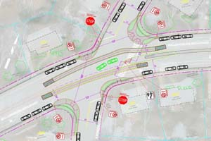 Drawing of Intersection Improvements