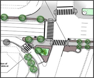Rendering of the North Lynn Street bike lane and the Interstate 66 ramp.