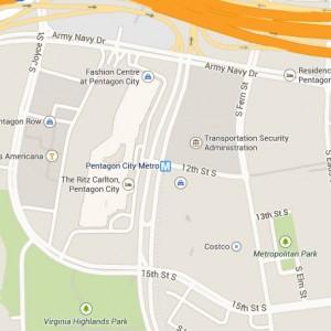 Pentagon City map