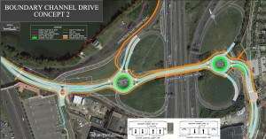 Image showing the Boundary Drive Interchange Project's design option number two