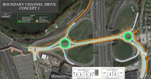 Image showing the Boundary Drive Interchange Project's design option number one