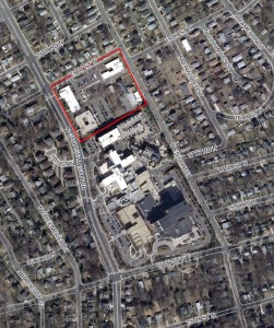 Aerial view of Arlington County's Edison Complex Site