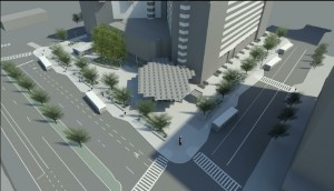 Rendering of 90% Design Plan - Aerial perspective