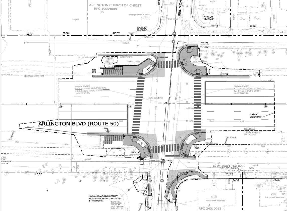 arlington boulevard and irving street intersection