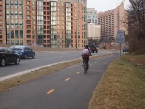 The Washington Blvd trail will be similar to this Arlington Blvd trail