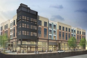Artistic rendering of 4707 Columbia Pike at street level