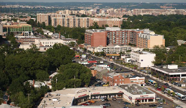aerial photo of the columbia pike corridor