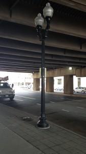 New street light under the Route 1 bridge