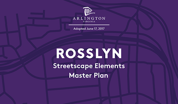 cover of the final rosslyn streetscape elements master plan