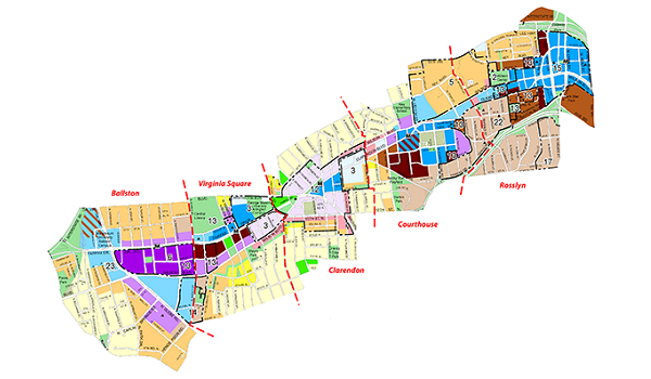 general land use plan map of the rosslyn ballston corridor