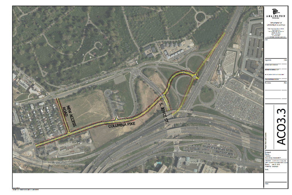 Arlington Cemetery Southern Expansion And Roadway Realignment - Arlington cemetery on us map