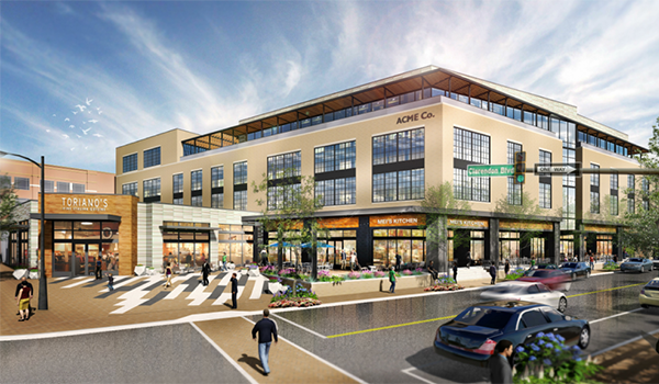 artistic rendering of the market common clarendon phase 2 renovation and expansion