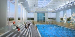 50 meter pool rendition