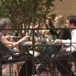 Diners at Sidewalk Cafe in Clarendon