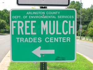 Free Mulch sign