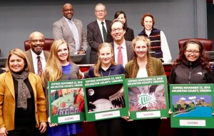 The County Board honored finalists of the 2017-2018 Decal Competition.