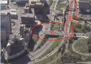 aerial view of Lynn Street Esplanade