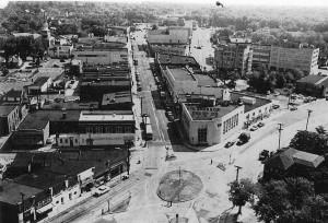 Clarendon Circle, circa 1950