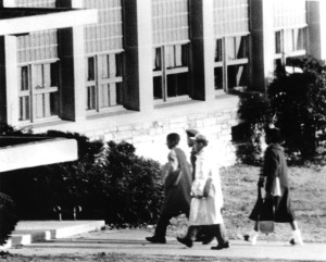 Ronald Deskins, Michael Jones, Lance Newman and Gloria Thompson entered Stratford Junior High School on Feb. 2, 1959. Center for Local History, Arlington Public Library