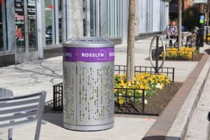 Rosslyn trash can