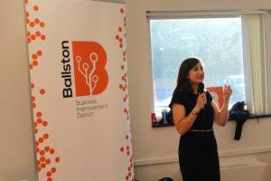 Katie Cristol speaks to millennials at the event