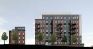 rendering of North Ballston south block condos and townhomes