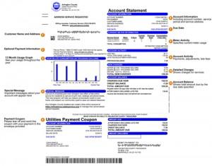 Understanding My Utility Bill Infographic