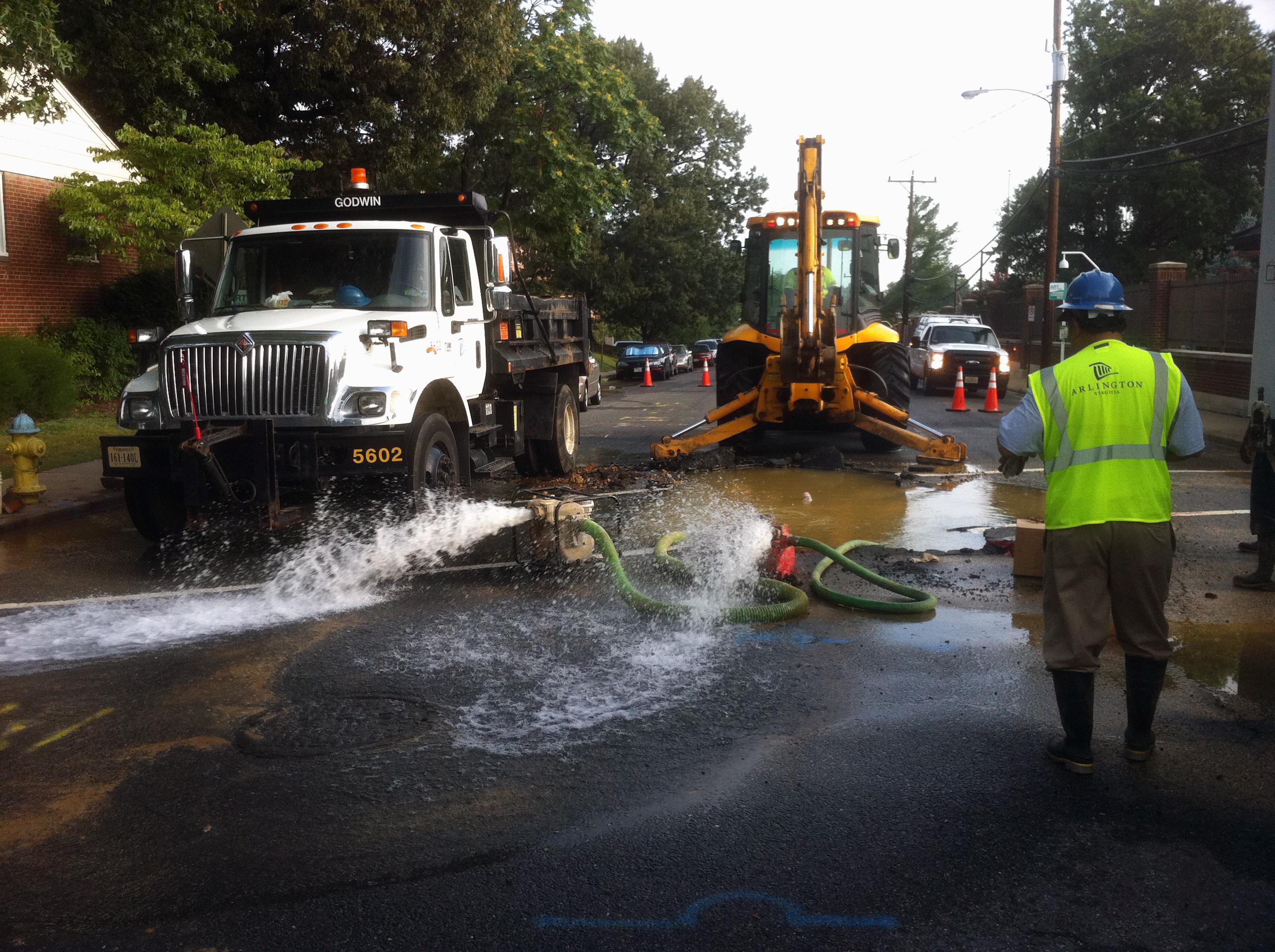 Water water utilities for Bureau repairs