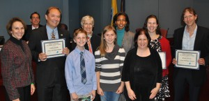 board members with children