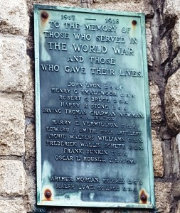 Arlington's World War I memorial plaque, dedicated in 1931.